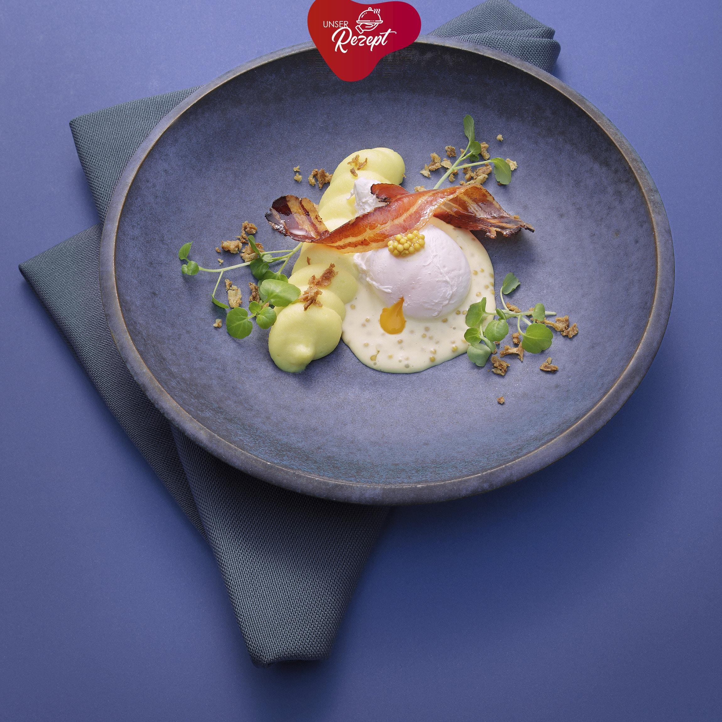 Senf-Ei mit Kartoffpüree